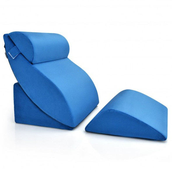 4 Pcs Bed Wedge Pillow Incline with Head Support for Rest