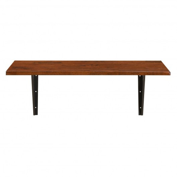 40'' x 14'' Wall-Mounted Desk Rubber Wood Dining Table with Sturdy Steel Bracket