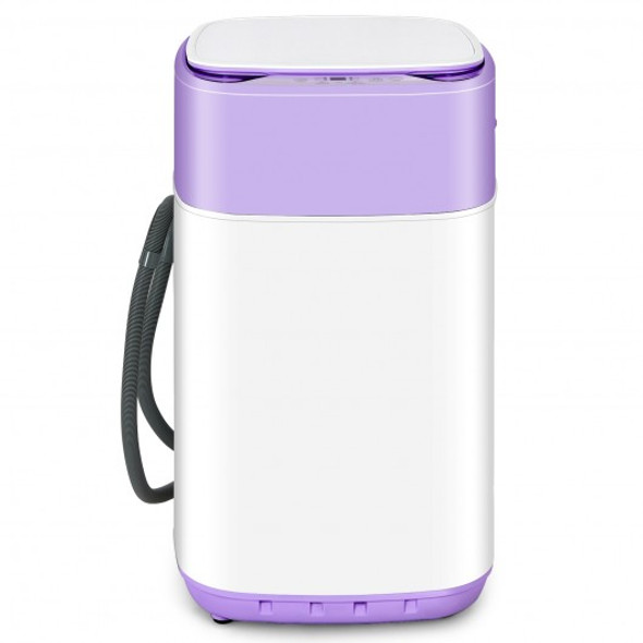 8lbs Portable Fully Automatic Washing Machine with Drain Pump-Purple