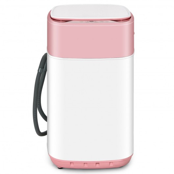 8lbs Portable Fully Automatic Washing Machine with Drain Pump-Pink