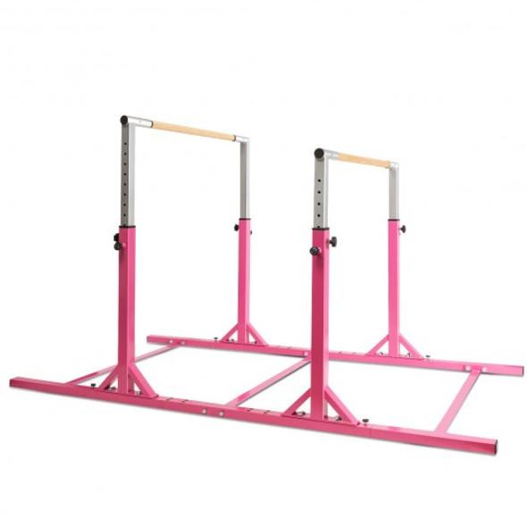 Kids Adjustable Width & Height Gymnastics Parallel Bars