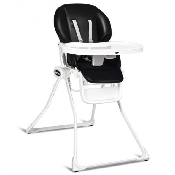 Space Saving Fold Baby High Chair-Black