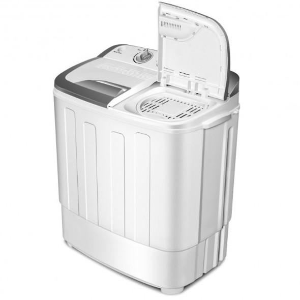 8 lbs Portable Mini Twin Tub Spinner Semi-Automatic Washing Machine