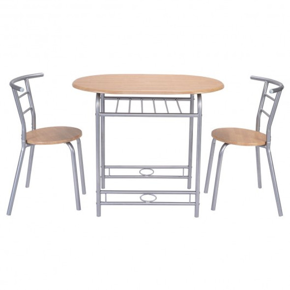 3 pcs Simple Table And Chairs Set