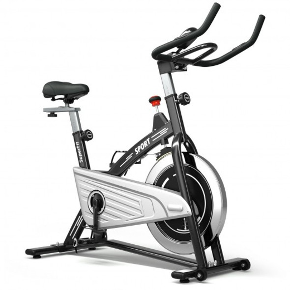 30Lbs Fixed Training Bicycle with Monitor for Gym and Home