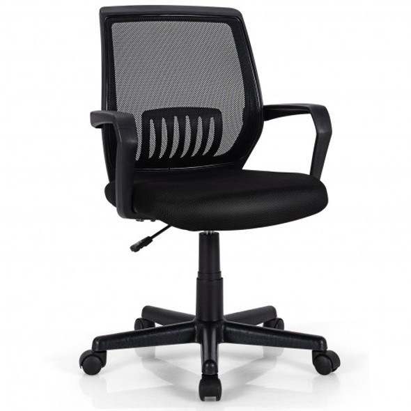 Mid-Back Mesh Height Adjustable Executive Chair with Lumbar Support
