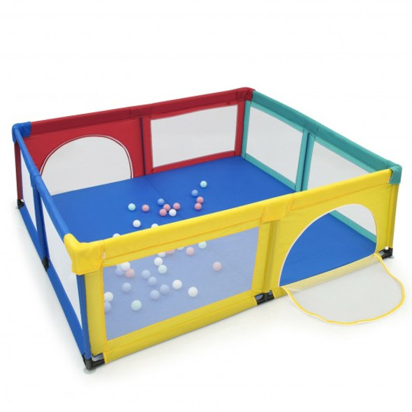 Large Infant Baby Playpen Safety Play Center Yard with 50 Ocean Balls-Color