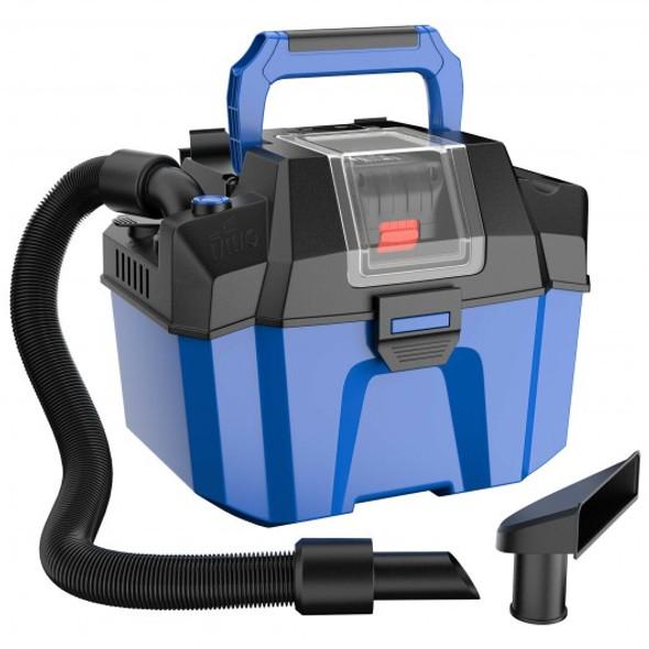 18V Wet Dry Vacuum 2.7 Gal 4 Peak HP Cordless Shop Vac 2.0 AH Battery-Blue