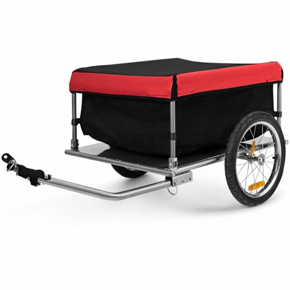 Bike Trailer with Folding Frame and Quick Release Wheels - COTL35296