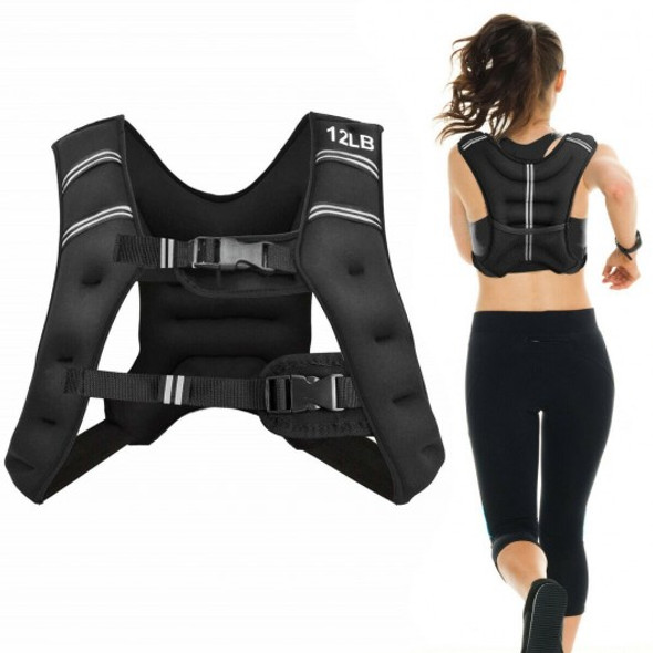 Training Weight Vest Workout Equipment with Adjustable Buckles and Mesh Bag-12 lbs