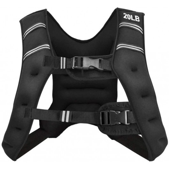 Training Weight Vest Workout Equipment with Adjustable Buckles and Mesh Bag-20 lbs