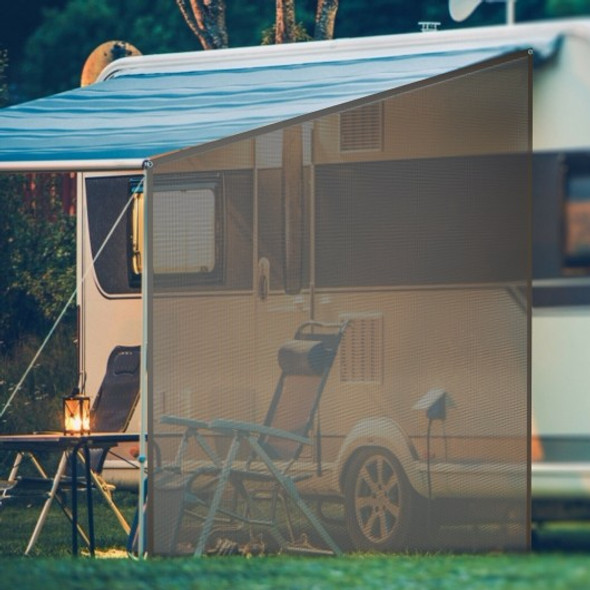 9' x 7' RV Awning Side Mesh Screen Sunshade with Complete Kits