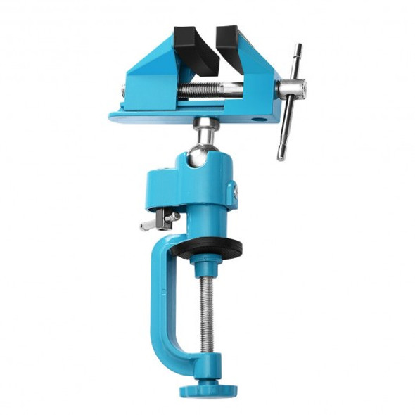 """Bench Vise Swivel 3"""" Tabletop Clamp Vice Tilts Rotate 360 Universal Work"""