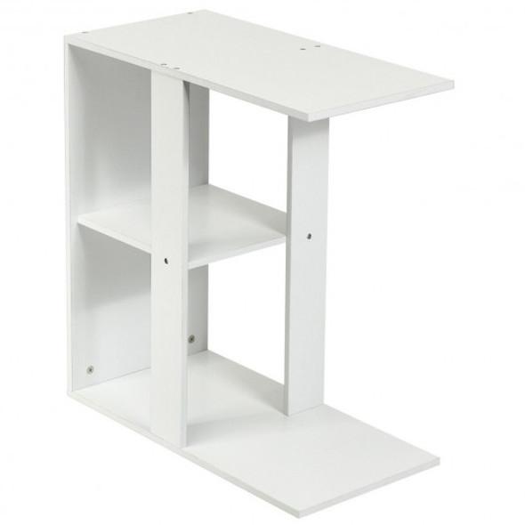 3-tier Side Table with Storage Shelf