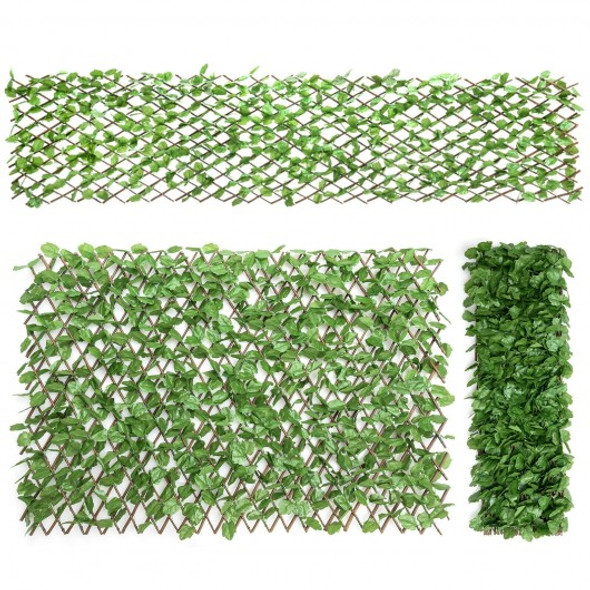 3 Pcs Retractable Artificial Leaf Faux Ivy Privacy Fence Screen Expandable