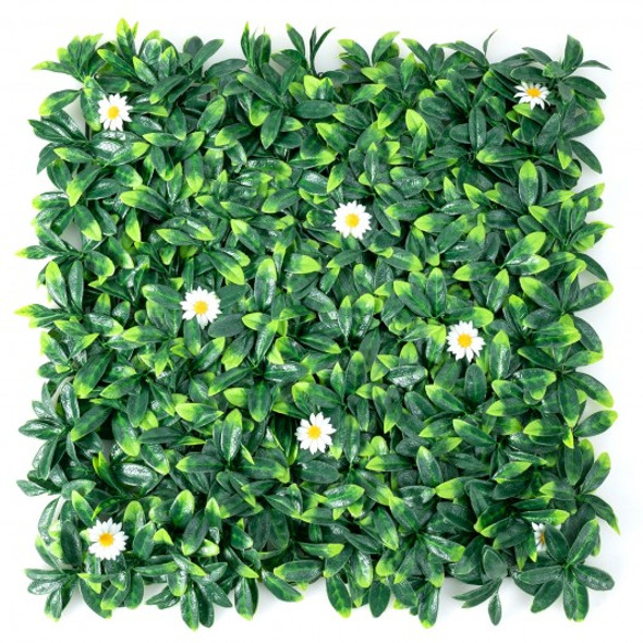 12 Pcs 20 x 20inch Artificial Daisy Hedge Plant Privacy Fence Hedge Panels