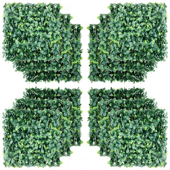 "12 Pcs 20 x 20"" Artificial Ficus Hedge Plant for Wedding Decorations"