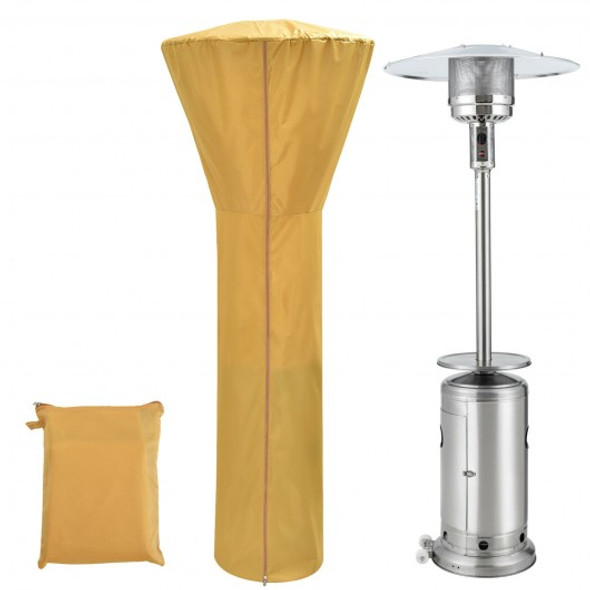 Patio Standing Propane Heater Cover Waterproof with Zipper and Bag-Beige