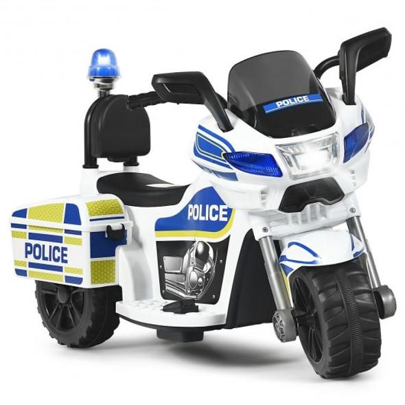 6V 3-Wheel Kids Police Ride On Car