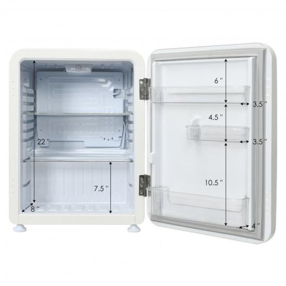 2.4 Cu.Ft. Compact Refrigerator Auto Defrost Mini Fridge Reversible Door-Beige