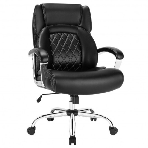 500 Lbs Height Adjustable Big and Tall Office Chair with Padded Armrest