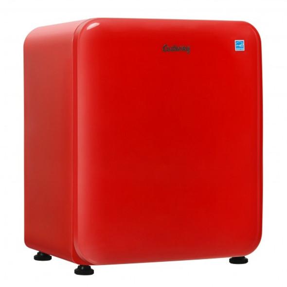 2.4 Cu.Ft. Compact Refrigerator Auto Defrost Mini Fridge Reversible Door-Red