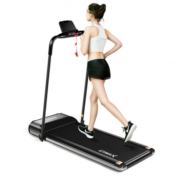 450W Ultra-thin Electric Folding Motorized Treadmill with LCD Monitor