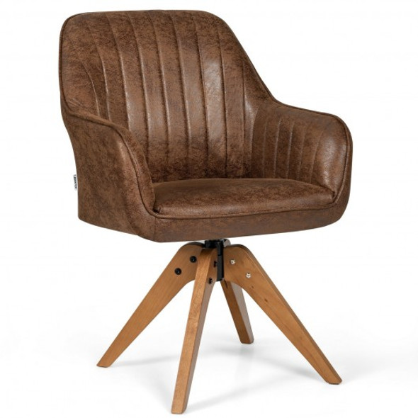 Mid Century Hot-Stamping Cloth Swivel Accent Chair