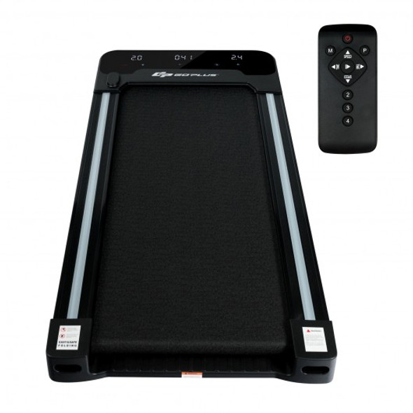 1 HP Electric Walking Treadmill with Touchable LED Display and Wireless Remote Control