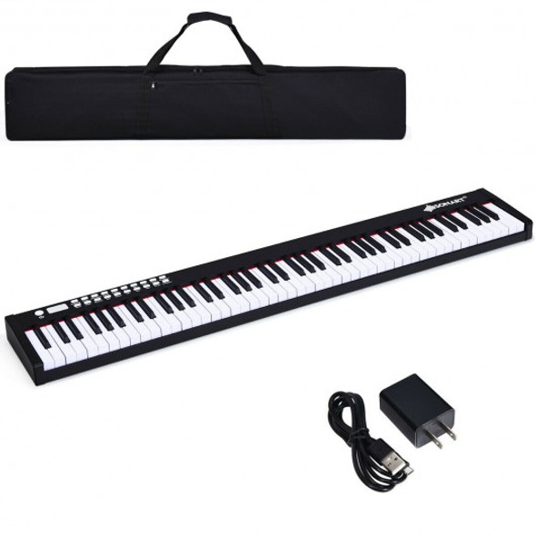 BX-II 88-key Portable Weighted Digital Piano with Bluetooth & MP3-Black