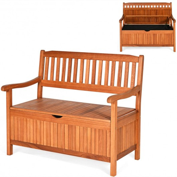 """42"""" Storage Deck Box Solid Wood Seating Container"""