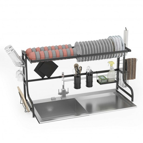 Adjustable Dish Drainer Kitchen Organizer