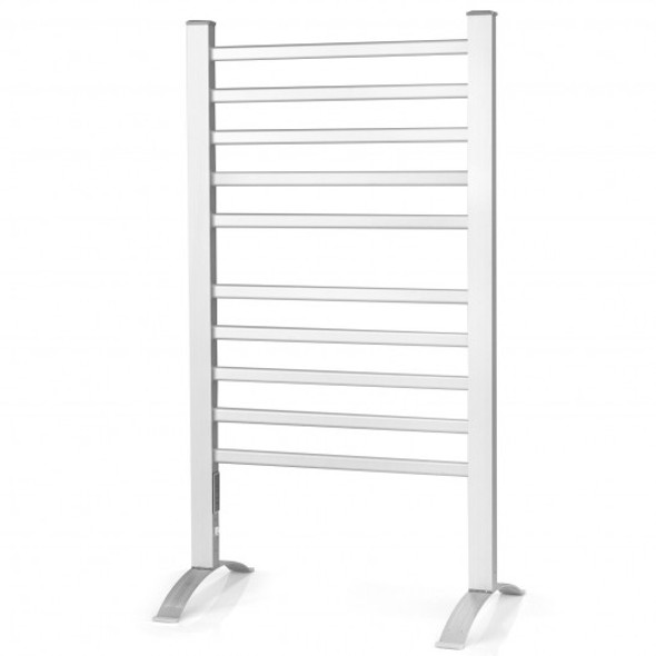 2-in-1 150W Freestanding and Wall-mounted Towel Warmer Drying Rack with Timer