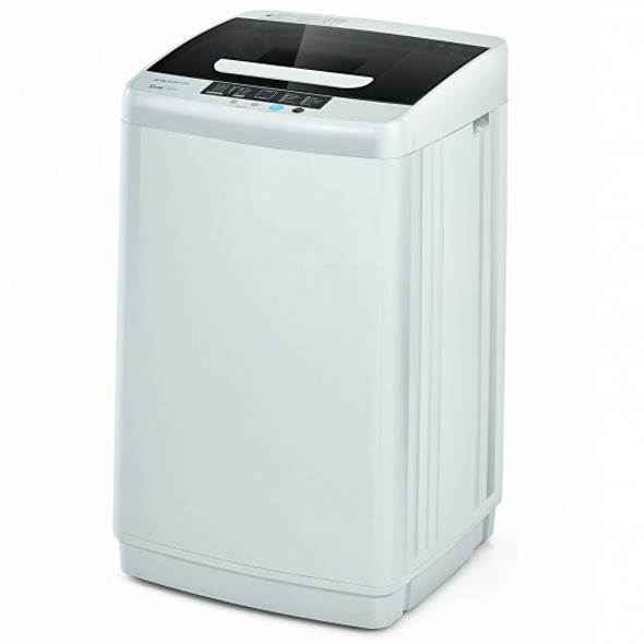 8.8 lbs Portable Full-Automatic Laundry Washing Machine with Drain Pump - COFP10018US