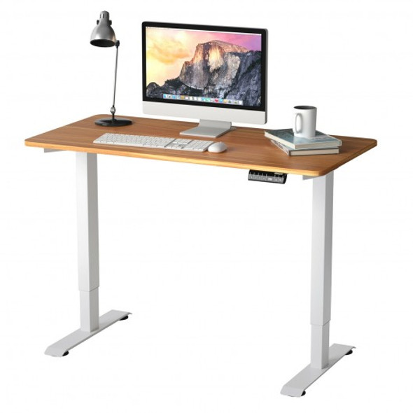 Electric Height Adjustable Standing Desk with Memory Controller-Coffee