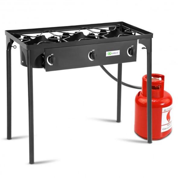 225 000-BTU Portable Propane 3 Burner Gas Cooker - COOP70807