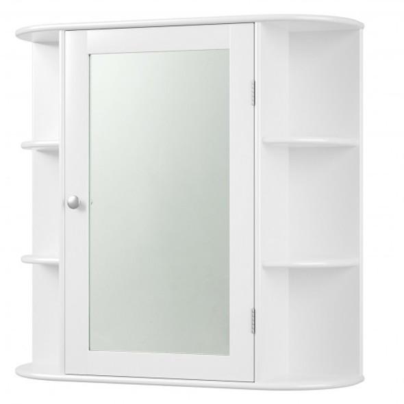 Multipurpose Mount Wall Mirror Bathroom Storage Cabinet - COHW67109WH
