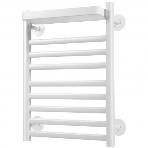 110W Electric Heated Towel Rack with Top Tray for Bathroom and Kitchen