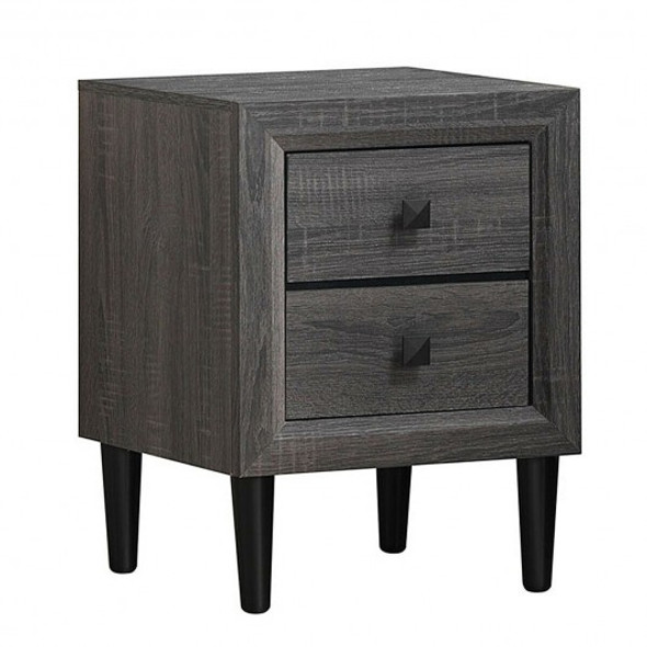 Multipurpose Retro Bedside Nightstand with 2 Drawers - COHW61187GR