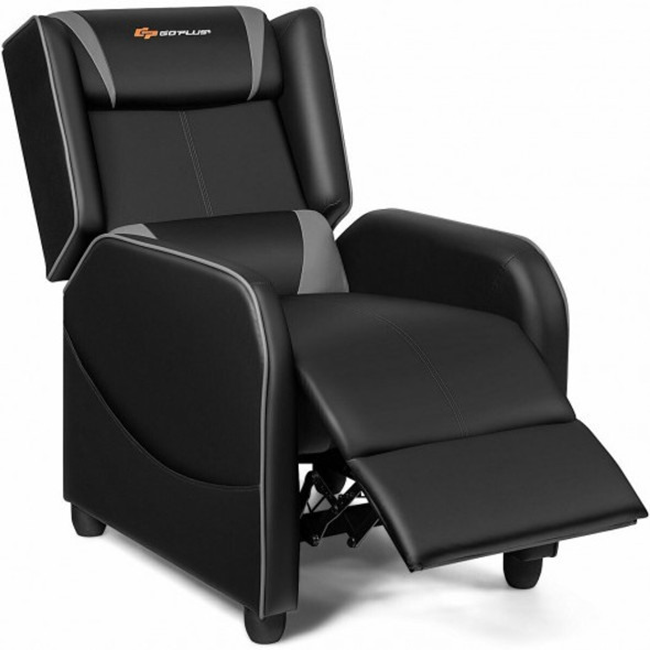 Home Massage Gaming Recliner Chair-Gray