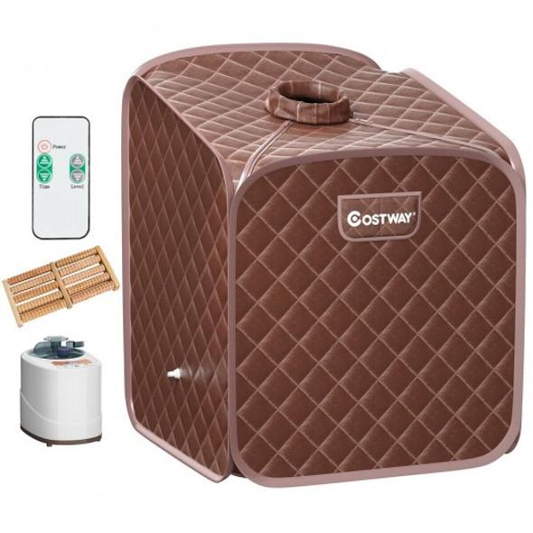 2L Portable Folding Steam Sauna Spa-Coffee