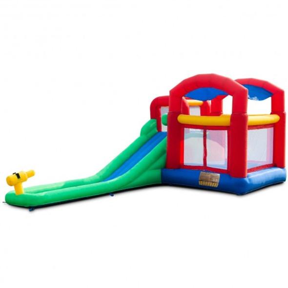 Inflatable Moonwalk Slide Bounce House with Storage Bag