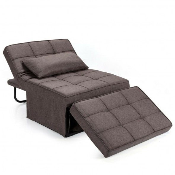 Sofa Bed 4 in 1 Multi-Function Convertible Sleeper Folding footstool-Coffee