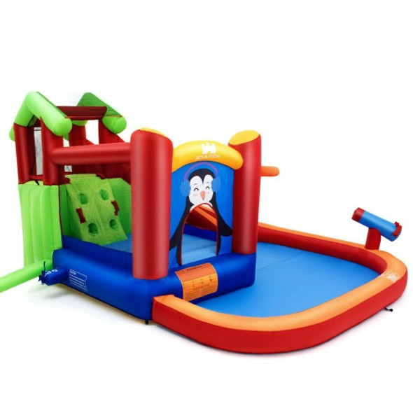 Inflatable Slide Bouncer and Water Park Bounce House Without Blower