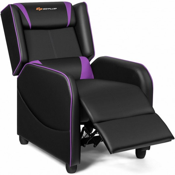 Home Massage Gaming Recliner Chair-Purple