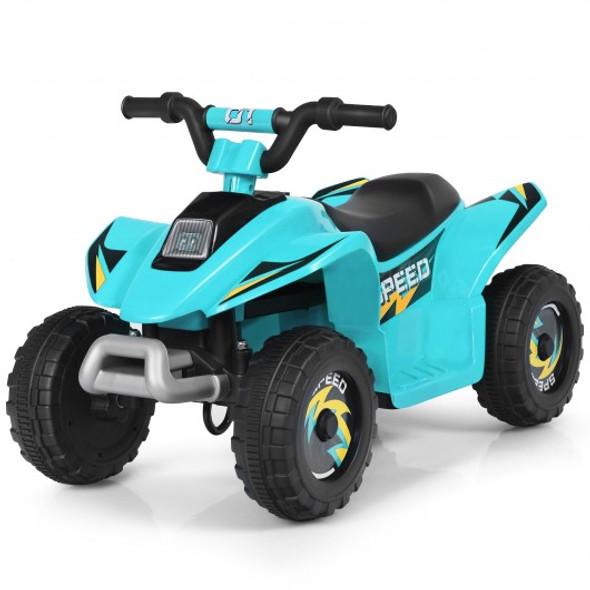 6V Kids Electric ATV 4 Wheels Ride-On Toy -Blue