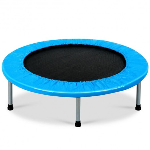 """38"""" Rebounder Trampoline with Padding and Springs for Adults and Kids-Blue"""