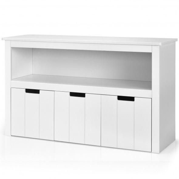Kid Toy Storage Cabinet 3 Drawer Chest with Wheels Large Storage Cube Shelf