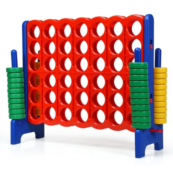 Jumbo 4-to-Score Giant Game Set with 42 Jumbo Rings & Quick-Release Slider-Blue