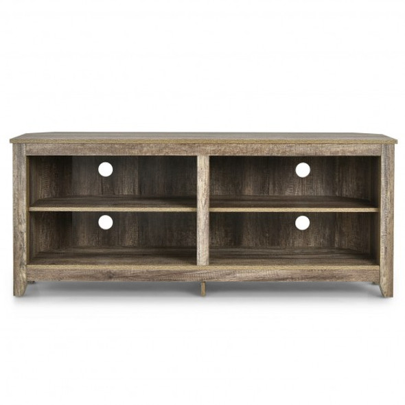 4 Cubby Entertainment Media Console with Shelves
